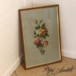 Broderi billede af roser B41xH59,4 cm