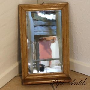 Gammelt spejl med foldbar hylde brun B28xH44 cm