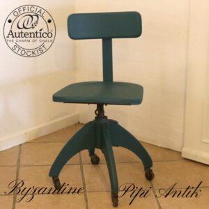 Byzantine træ skrivebordstol med snurre forhøjer