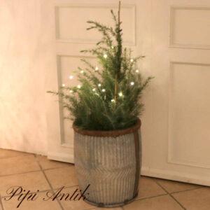 Zink blomsterkar Ø 41xH49 cm
