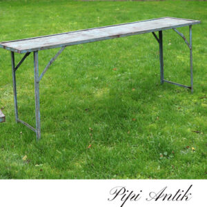 02 Metalbord gråligt blå L180xB44,5xH71 cm orangerie bord emne