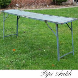 03 Metalbord gråblåligt orangeriebord emne mm L180x44,5xH71 cm