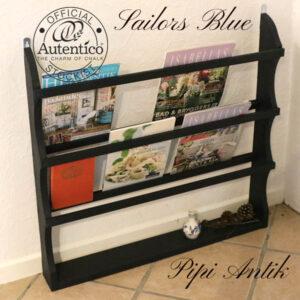Sailor´s Blue tallerkenrække L(0xD11xH75 cm Autentico kalkmaling