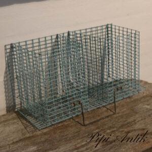 Metalkurv til ophæng gl minkbur 2 rums L46xB21xH23,5 cm