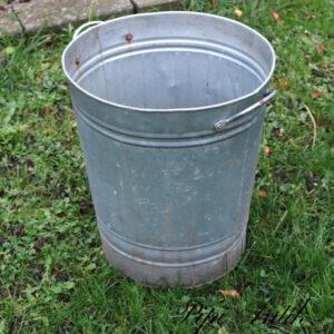 05 Zink skraldespand Ø40xH47 cm
