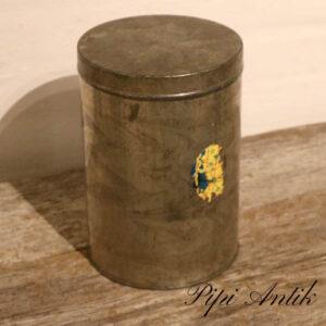 06 Metal kagedåse pagtineret Ø16xH23 cm