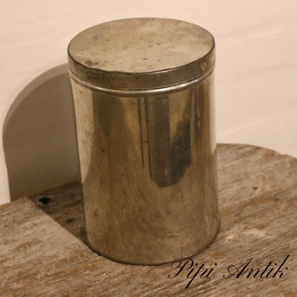 07 Metal kagedåse Ø16xH23 cm