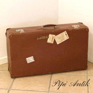 07 Retro brun papkuffert L75xB42,5xD19 cm