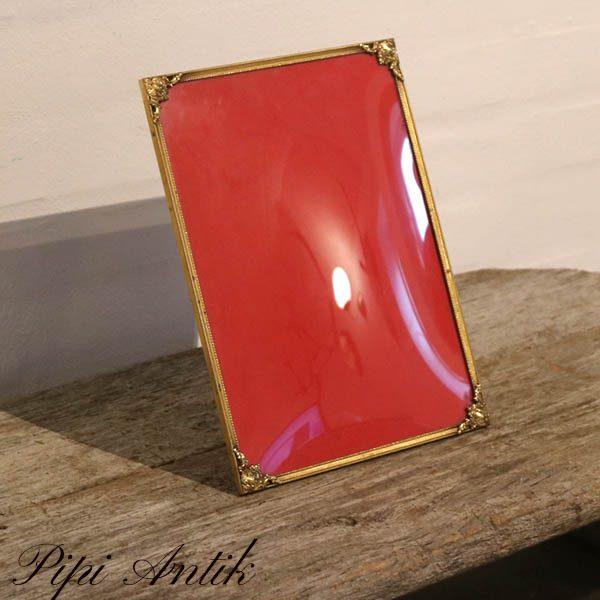 10 Metal guld retro fotoramme B21,5xH28,5 cm