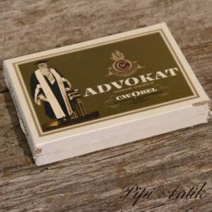 Advokat cigarkasse med al cigar indhold L15xB10xH2 cm