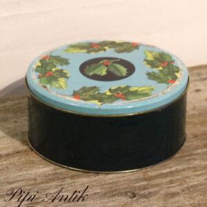 Kagedåse med julemønster Ø21,5xH9,5 cm