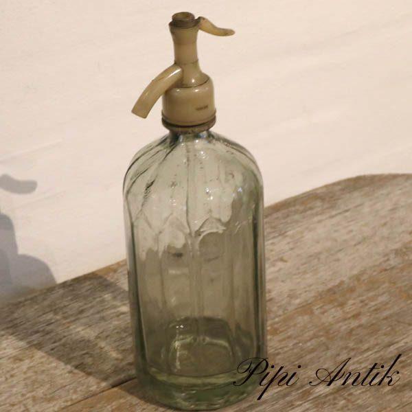 13 Sifon flaske grålig Ø10,5x31 cm
