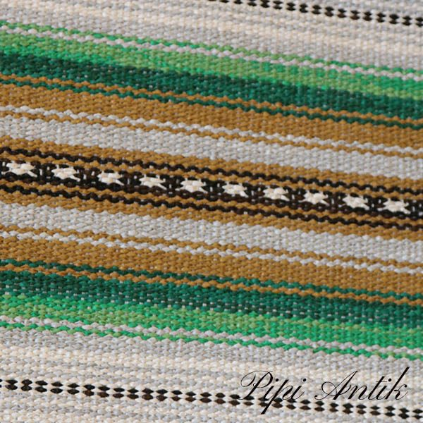 14 Siv grøn grø carrygul kludetæppe B68,6xL87 cm