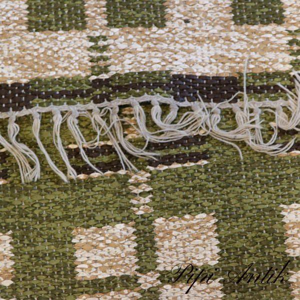 15 Siv olivengrøn beige farvet kludetæppe B90x400 cm