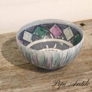 Upsale Ekeby pynteskål Ø15,5xH9 cm lille grøn grålig