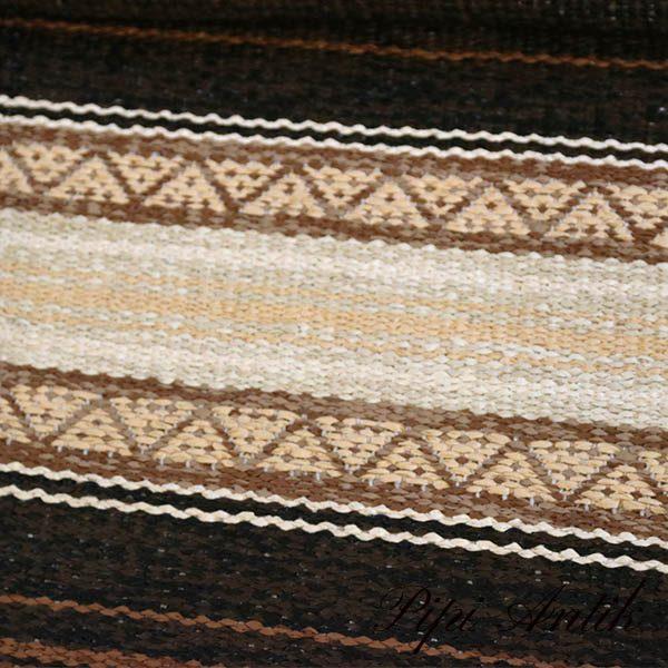 17 Siv brun laksefarvet kludetæppe B145xL195 cm