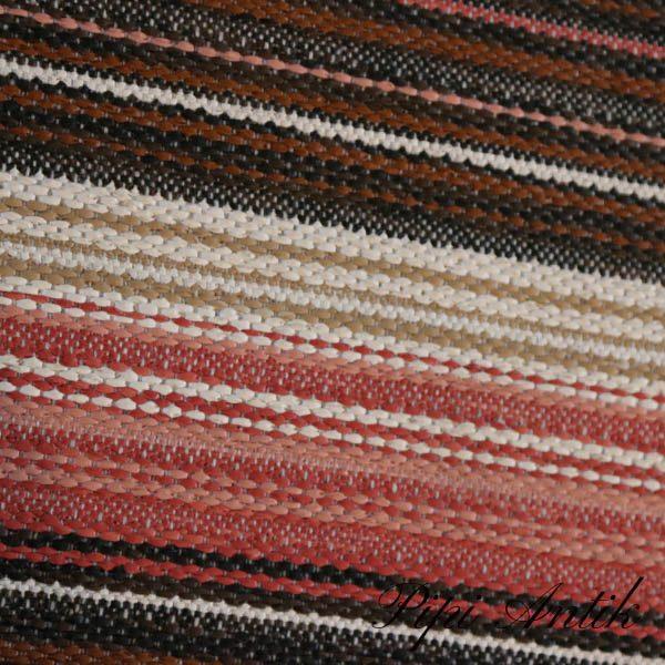 18 Siv brun rosafarvet kludetæppe B115x175 cm