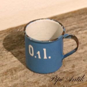 22 Madam Blå 1 dl kop Ø5,5xH5,5 cm