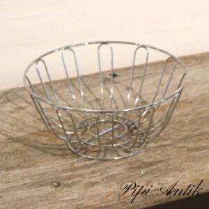 Frugtskål metal 1980 erne Ø24xH12 cm