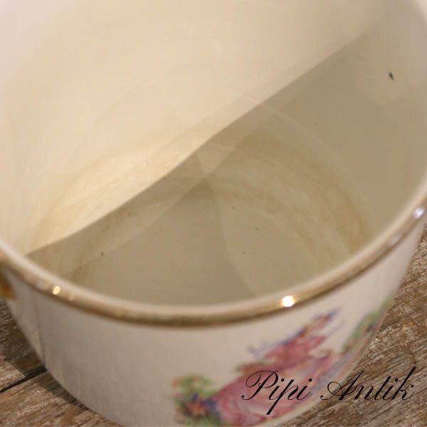 Upsala Ekeby romantisk potteskuler dog kalket inde Ø32xH27 cm
