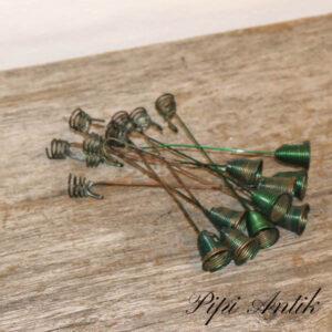 Juletræs lyseholder grønne med string i bunden L6 cm