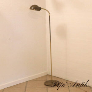 Retro messing standerlampe med justerbar skærm fod Ø26xH130 cm