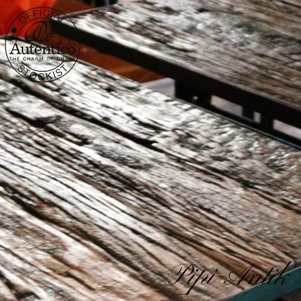 Topplade rustikt bordplade brun