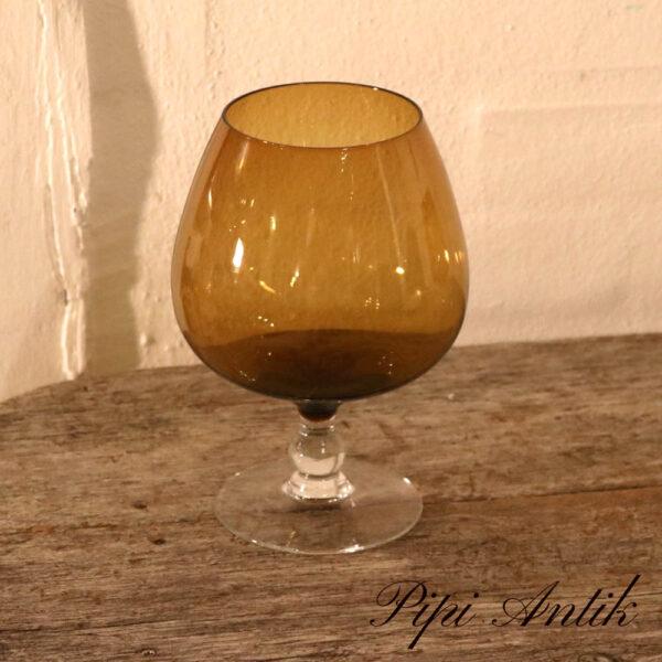 45 Okker brun glasvase som Cognac glas