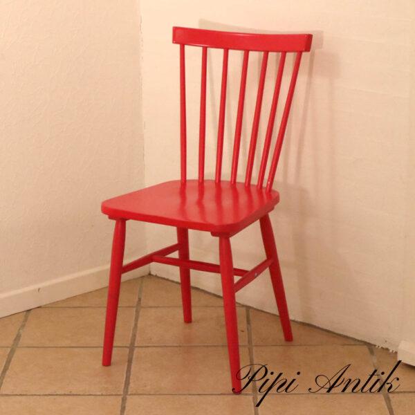 Retrolook nyere Pink Rød genbrugsstole NN B44xH87,5 siddehøjde 45 cm