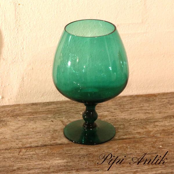 45 Tyrkis glasvase som cognac glas Ø12xH19 cm