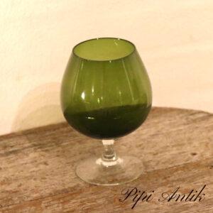 46 Retro glasvase oliven som Cognac glas Ø12xH19 cm