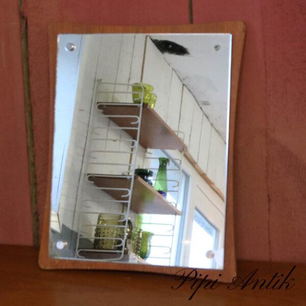 06 Lille teak spejl med spejlglas på teak B30xH35x1,5 cm