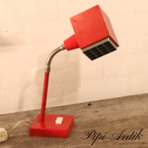 Retro rød firkant krom skrivebordslampe B10xD9xH40 cm