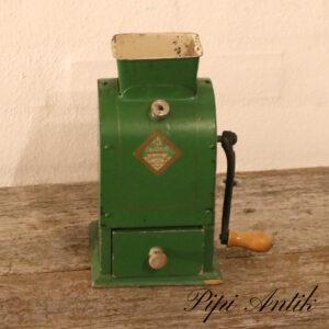 Retro metal mørkegrøn bordlampe Ø12,5xH41 cm