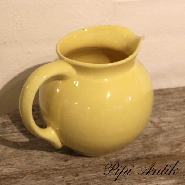 Gul keramikkande Ø13xH13,5 cm