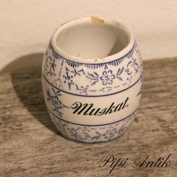 Musselmalet Muskat Ø7,5xH8 cm