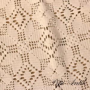 20 Hæklet sengetæppe hvidt med lidt kant paitina B190xL205 cm