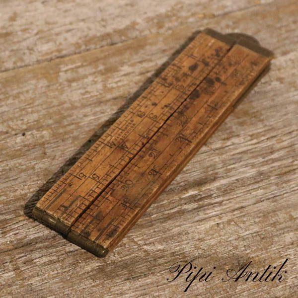 Tømmer lomme tommestok 60 cm udfoldet messing Made in England
