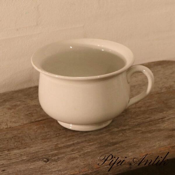 Gustavberg porcelænspotte i hvid Ø20,5xH14 cm