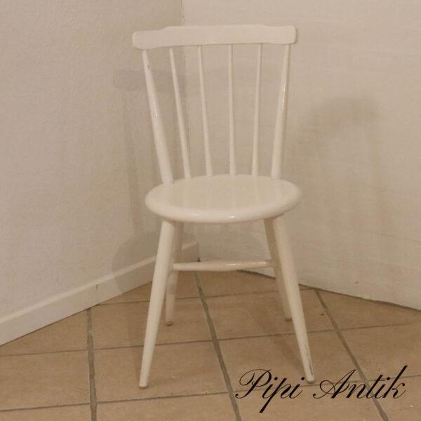 Retro pindestol hvid B39xD40xH83 cm siddehøjde 45 cm