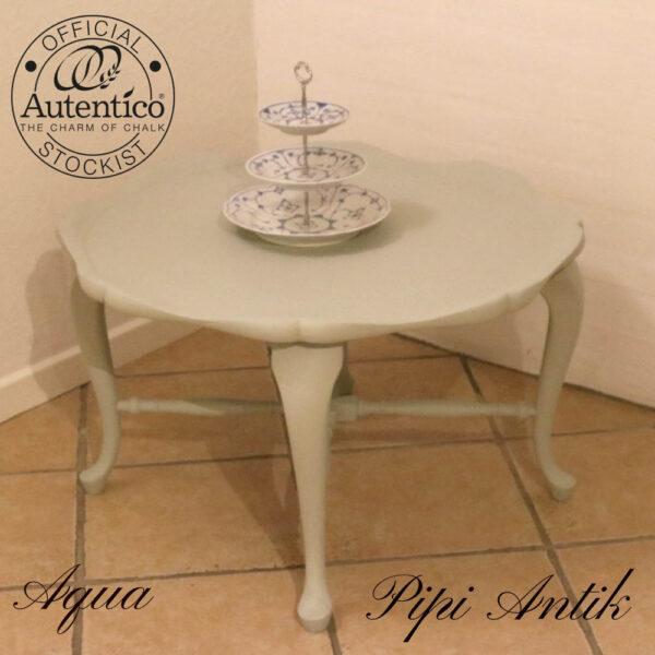 Aqua romantisk lavt sofabord Ø75xH45 cm