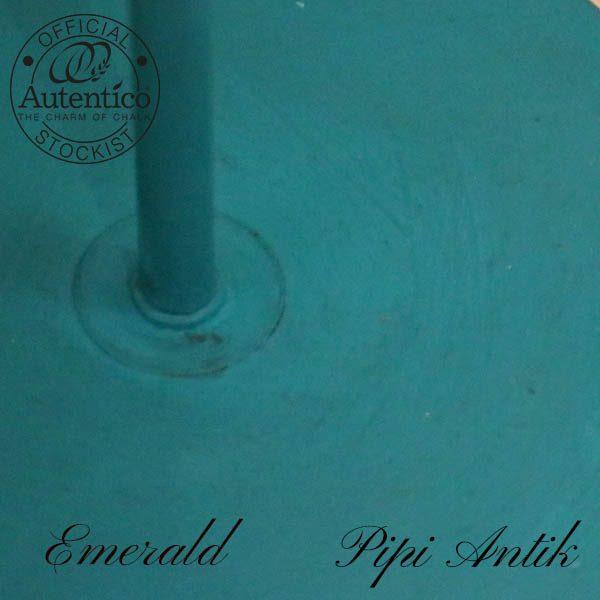 Lampe malet med Emerald med sort voks