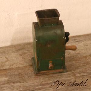 Grøn metal bord kaffekværner B11,5xH11,5xH21cm