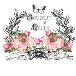 HDT-17 Bouquet de Roses A4 transfer