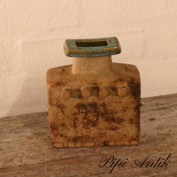 Retro keramik vase NN robust keramik L14,5xD6xH7 cm