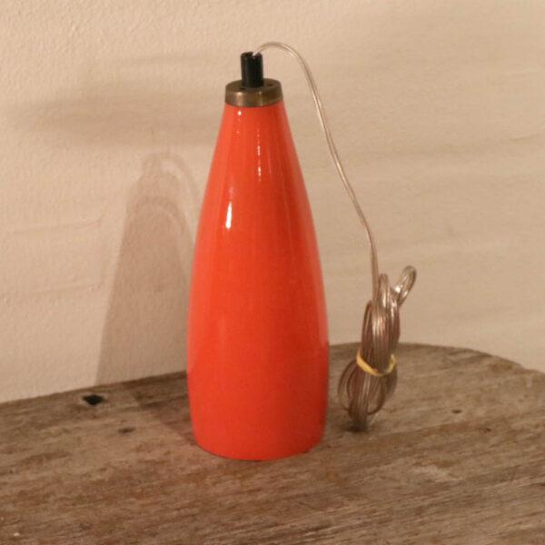 Retro orange glas loftlampe Ø 14xH19 cm