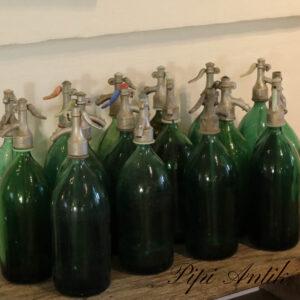 Sifoner grønne assorterede uden mønstre Ø10x34 cm H
