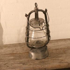 Stor zink flagermuslampe petroleumslampe Ø15xH40 cm