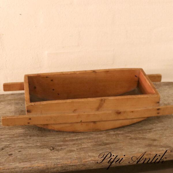 Træ kartoffelmose bræt uden ruller stor L49x20xH10 cm