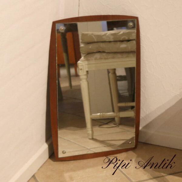 Retro teak spejl B34xH64 cm